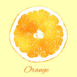 Apelsin i vattenfärgstil Arkivfoto