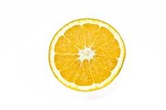 Apelsin mat, vit, del som isoleras, citrus, frukt, Royaltyfri Foto
