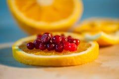 apelsin med tranbär Arkivfoton