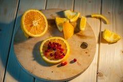 apelsin med tranbär Royaltyfria Bilder