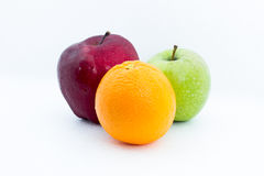 Apelsin och äpplen Arkivbilder