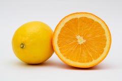 Apelsin och citron Royaltyfri Fotografi