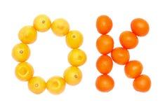 Apelsin- och citronfrukter Arkivfoto