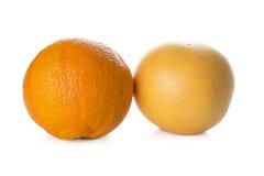 Apelsin och grapefrukt Royaltyfria Bilder