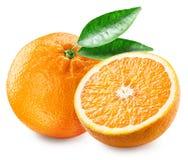 Apelsin och halva av frukt Arkivbilder