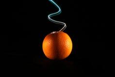 Apelsin och ljus 2 royaltyfri bild