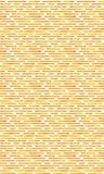 Apelsin- och vitmodell Sömlös apelsin- och vitmodell för vektor med irregularlinjer och rundade hörn Royaltyfria Bilder