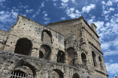 Apelsin Roman Theatre Arkivbild