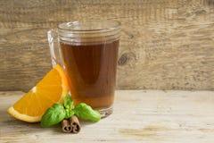 Apelsin, te och kanel Royaltyfri Foto