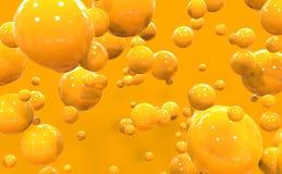 Apelsinen bubblar Fotografering för Bildbyråer