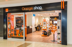 Apelsinen shoppar Fotografering för Bildbyråer