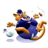 Fet katt vektor illustrationer