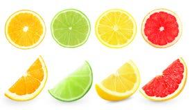 apelsiner för citrusfruktcitronlimefrukter arkivfoton