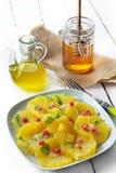 apelsiner för honungoljeolivgrön Arkivbild
