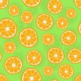 apelsiner mönsan seamless Citrus bakgrund med skivor av apelsiner också vektor för coreldrawillustration royaltyfri illustrationer