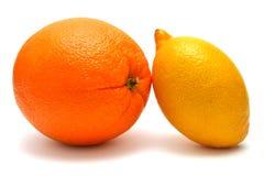 Apelsiner och citroner Arkivbilder