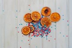 Apelsiner och stjärnor Royaltyfri Foto