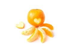 Apelsiner på vitbakgrund Royaltyfri Foto