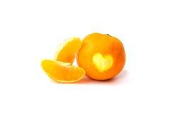 Apelsiner på vitbakgrund Arkivbild