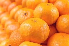 Apelsiner som tillsammans staplas Royaltyfria Bilder