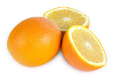 apelsiner tre arkivfoton