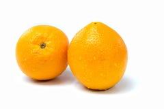 Apelsinfrukt på vit bakgrund Arkivfoton