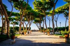 Apelsinträdgård, Giardino degli Aranci, i Rome, Italien Royaltyfria Bilder