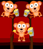 Apen in bioskoop Stock Afbeelding