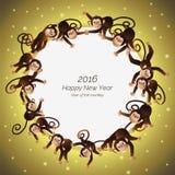 Apen in een cirkel Royalty-vrije Stock Fotografie