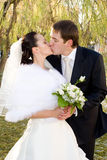 Apenas casado. Imagens de Stock
