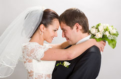 Apenas casado. Fotografía de archivo