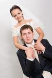 Apenas casado. foto de archivo libre de regalías