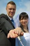 Apenas casado Fotografia de Stock Royalty Free