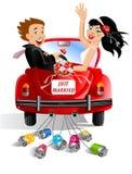 Apenas casado ilustração royalty free