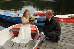 Apenas casado Fotos de Stock Royalty Free