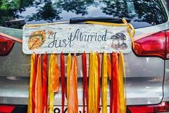 Apenas casado Imágenes de archivo libres de regalías