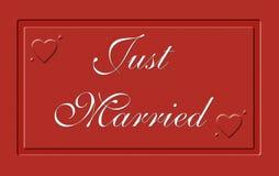 Apenas casado em uma placa vermelha foto de stock royalty free