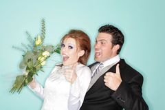 Apenas consiguieron casado Foto de archivo libre de regalías