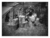 Apenas de madera Fotos de archivo libres de regalías