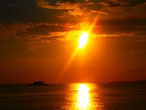 Apenas espera para la puesta del sol fotos de archivo libres de regalías