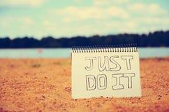 Apenas faça-o! Imagem de Stock Royalty Free