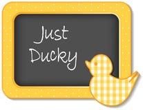 Apenas frame Ducky do berçário Fotos de Stock Royalty Free
