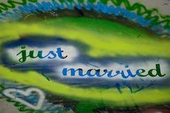 Apenas Grafiti casado Imagens de Stock Royalty Free