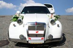 Apenas limusina casada Imagem de Stock Royalty Free