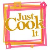 Apenas marco de It Pink Orange del cocinero Imagen de archivo libre de regalías