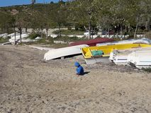 Apenas na praia Imagem de Stock Royalty Free