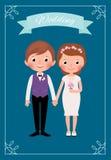 Apenas noiva e noivo casados felizes Imagem de Stock Royalty Free