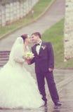 Apenas pareja casada Imagen de archivo