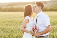 Apenas pareja casada Fotos de archivo libres de regalías