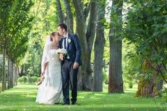Apenas pares casados Foto de archivo libre de regalías